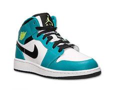 5b98208640b8 Air Jordan 1 Mid (GS) Junior (128 blanco esmeralda)