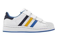 new concept 053c8 e8333 Adidas Superstar 2 CF Inf (blanco azul amarillo)(20-27