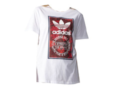 59cf5aeff Adidas Originals W Camiseta Tongue Label Boyfriend (white)