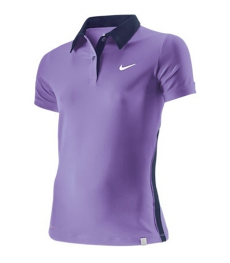 Nike Polo Mujer Tenis Backhand (violeta purpuara) c51ca167496be