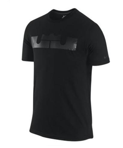 4fd277f07bfca Camiseta Nike LeBron Logo Fibra de Carbon (010 negro)