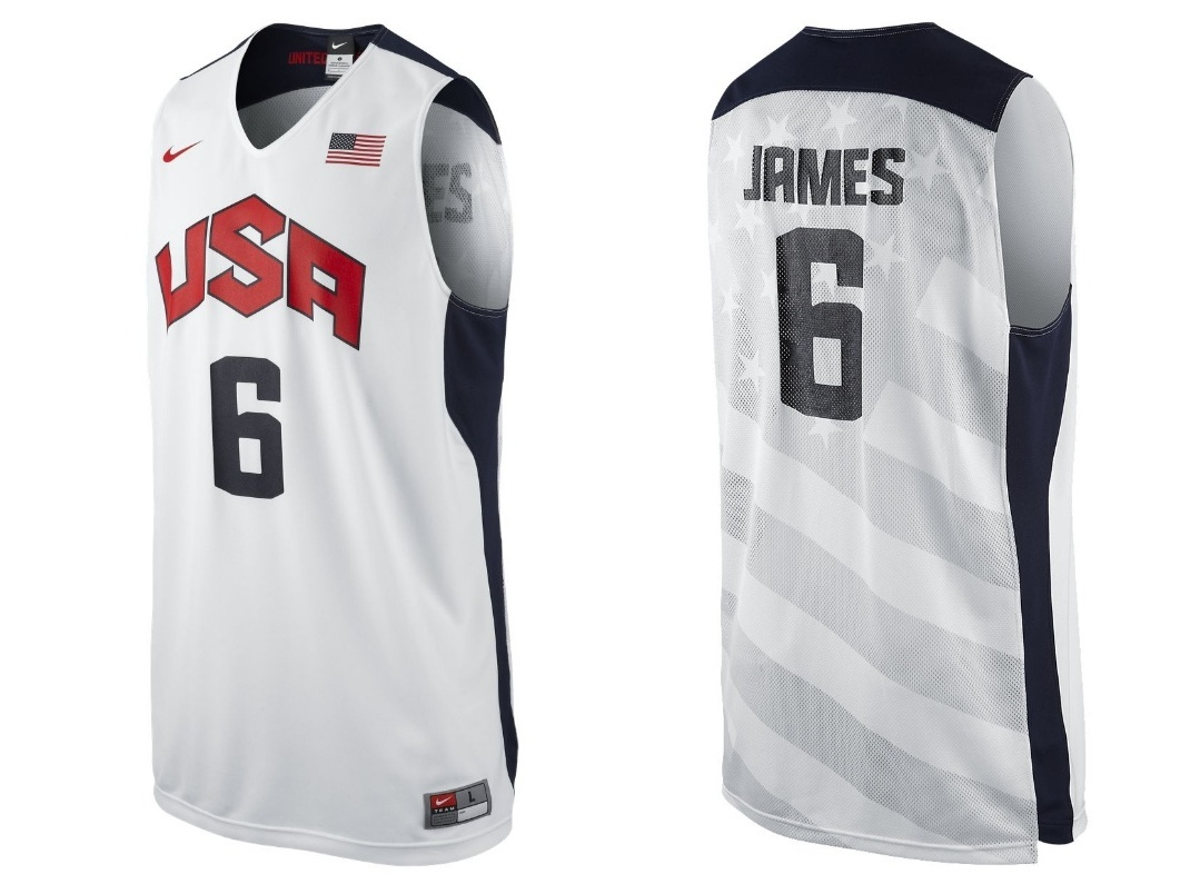 "Camiseta Nike Réplica Lebron James ""USA"" (100/blanco/navy/ro"