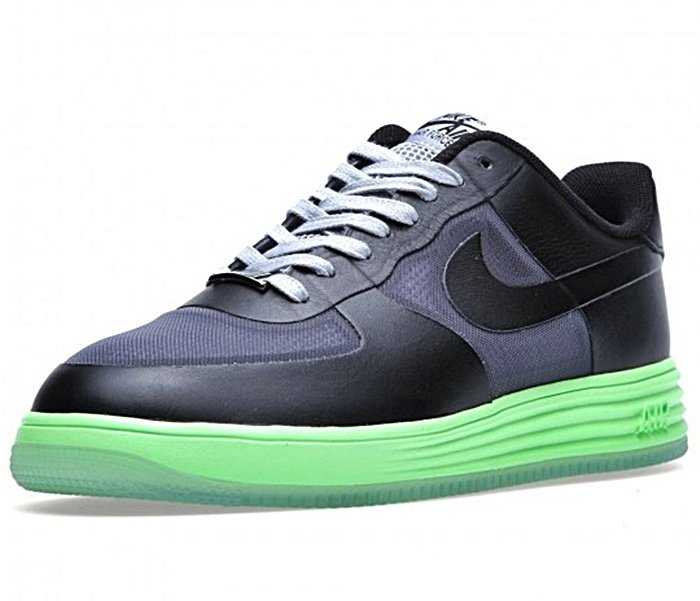 free shipping 5e2bf 2bfe9 ... discount nike lunar force 1 fuse leather 002 negro lima gris 9be94 e0243