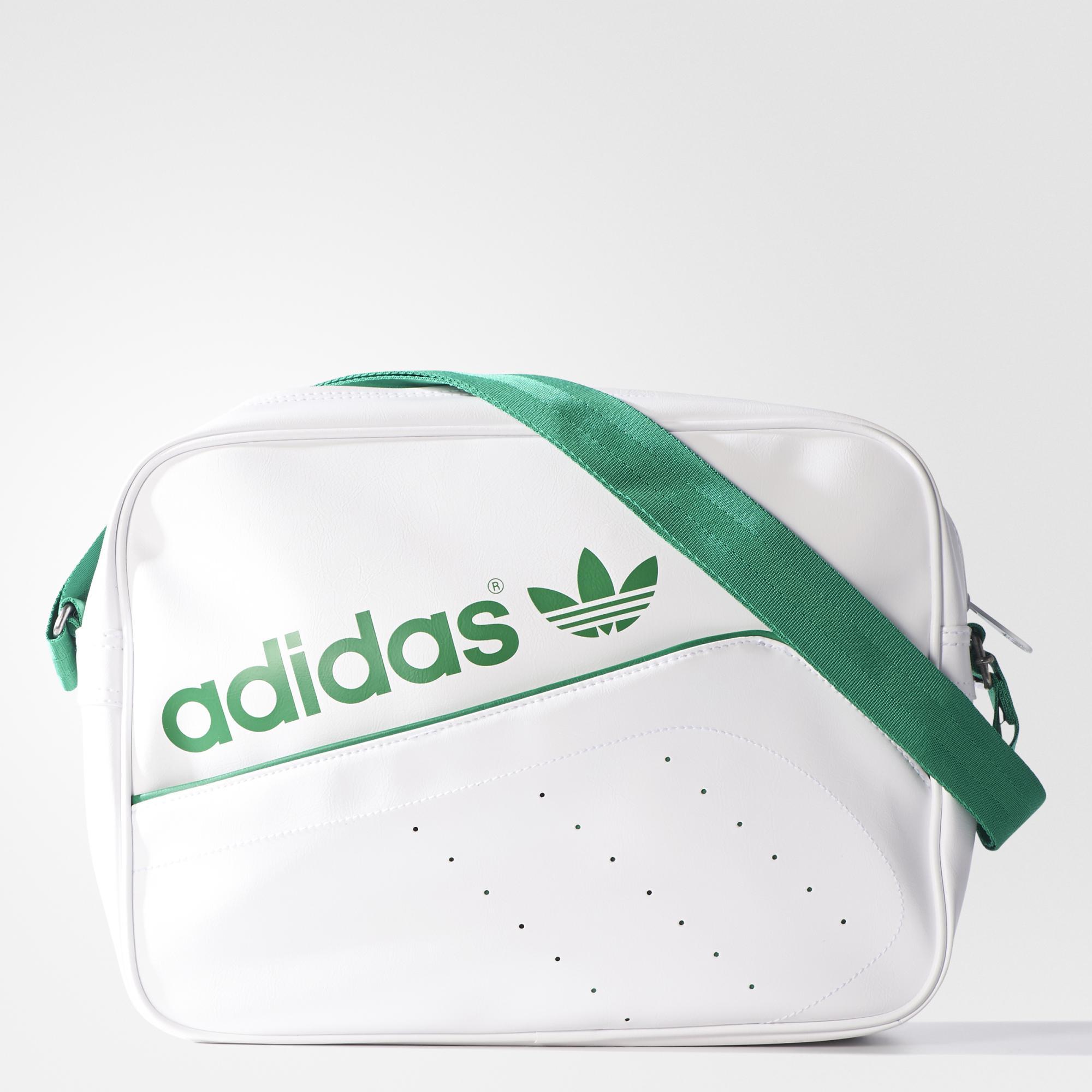 Adidas Adidas Bolso Airliner Originals Perforatedblancoverde N8wPk0nOX