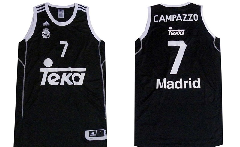 220d708f34e5d Camiseta Campazzo 2ª Equipación Real Madrid Basket 2014 (negra)