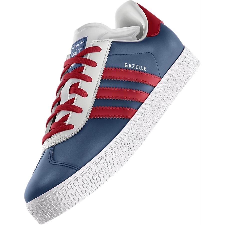 Adidas Gazelle Capitan America (30-35) (azul/rojo)