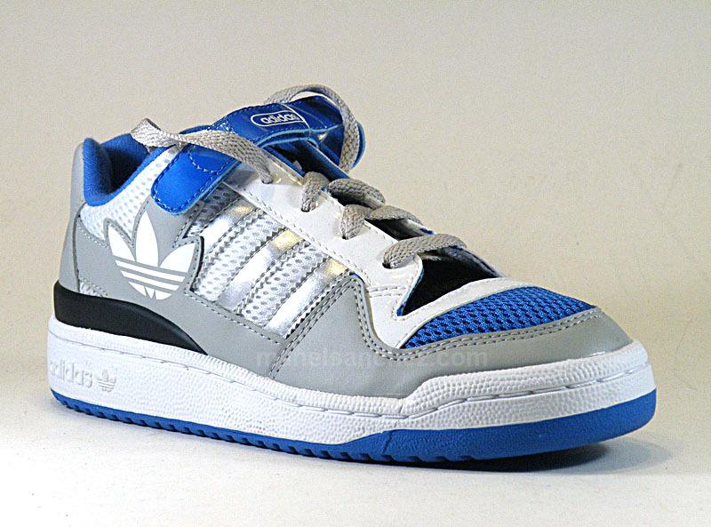 best sneakers 16d52 f6fe8 Adidas Forum Low Niño (28-35)(gris blanco azul)