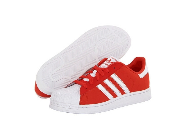 Adidas Superstar 2 J (36 40)(rojoblanco)