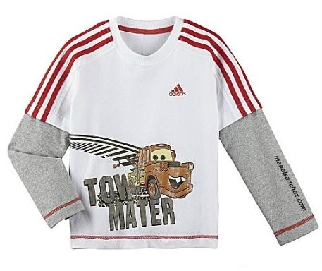 Tow Cars Camiseta Ml Disney Mater blanco Adidas 1URgqn