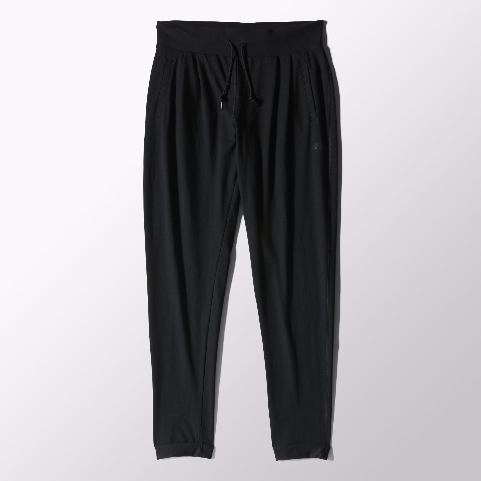 Sport Jersey Pantalón Mujer Adidas Essentials negro qwzHRg6x