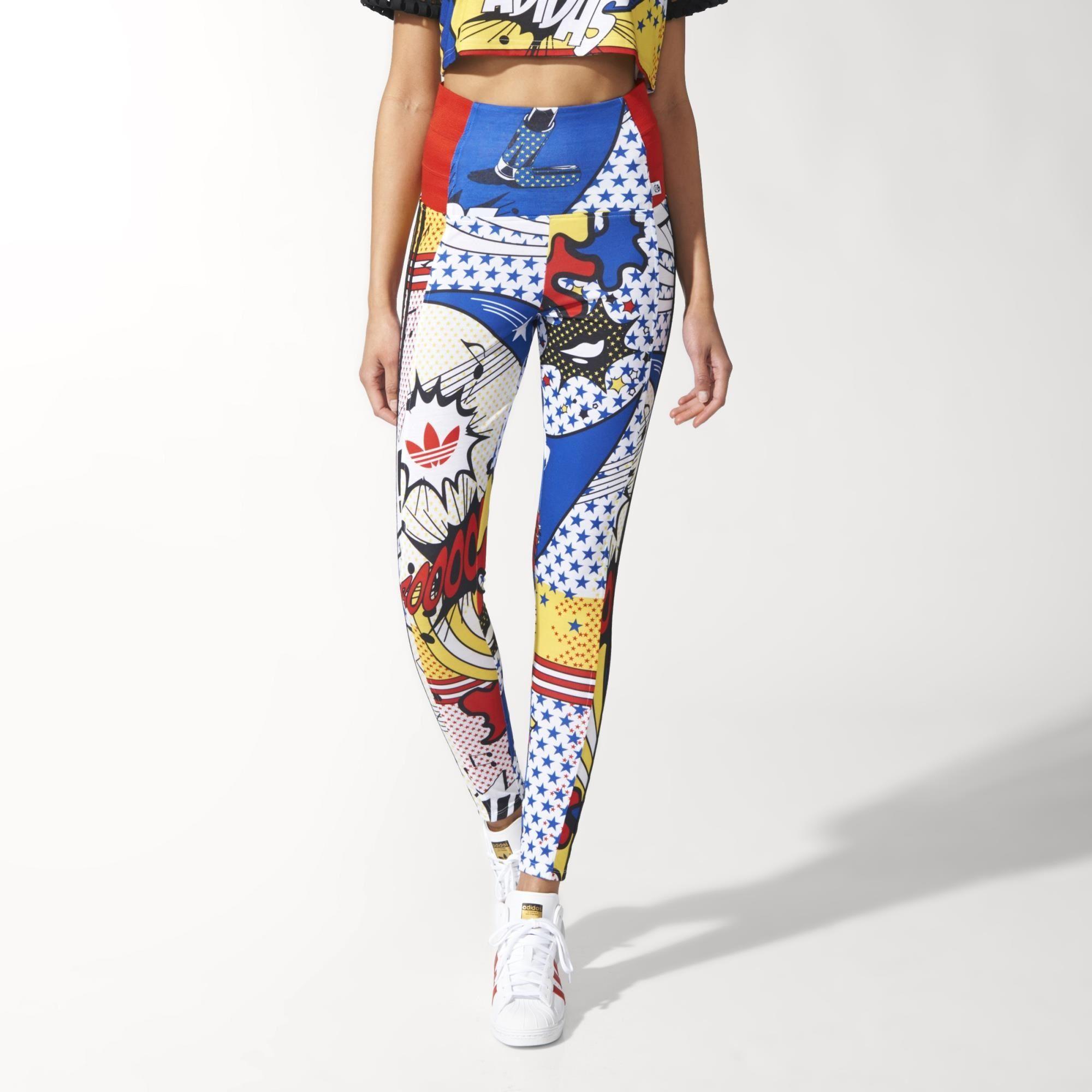 Ora Super High Adidas Originals multicolor Leggins Rita 6qEEX07x