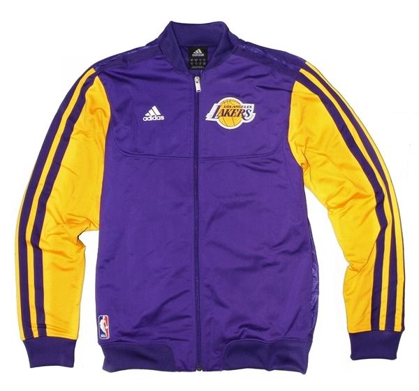 mejor coleccion seleccione para genuino precio de calle Adidas Chaqueta On-Court Angeles Lakers (purpura/amarillo)