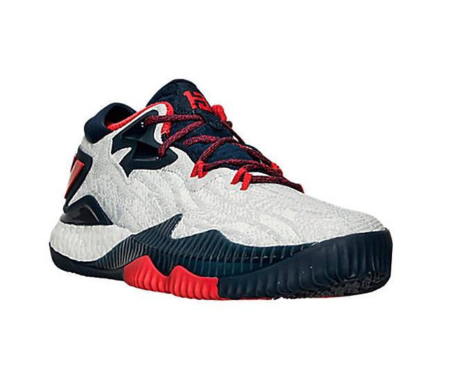 low price 457e0 6d47c ... canada adidas crazylight boost low 2016 james harden rio 2016 white  scarlet 9c8ec 3554f ...