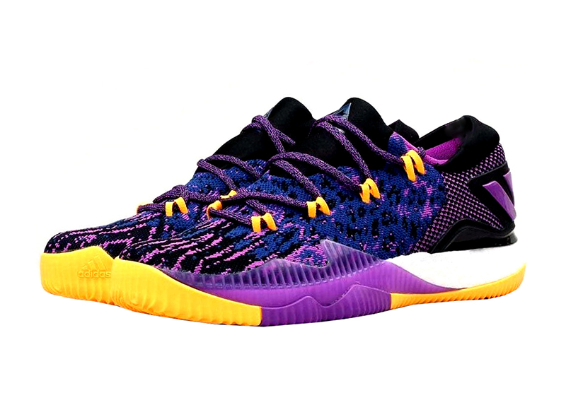 100% authentic ce590 ec8e8 ... usa adidas crazylight boost low 2016 swaggy p young purple yellow black  d8324 e9e61