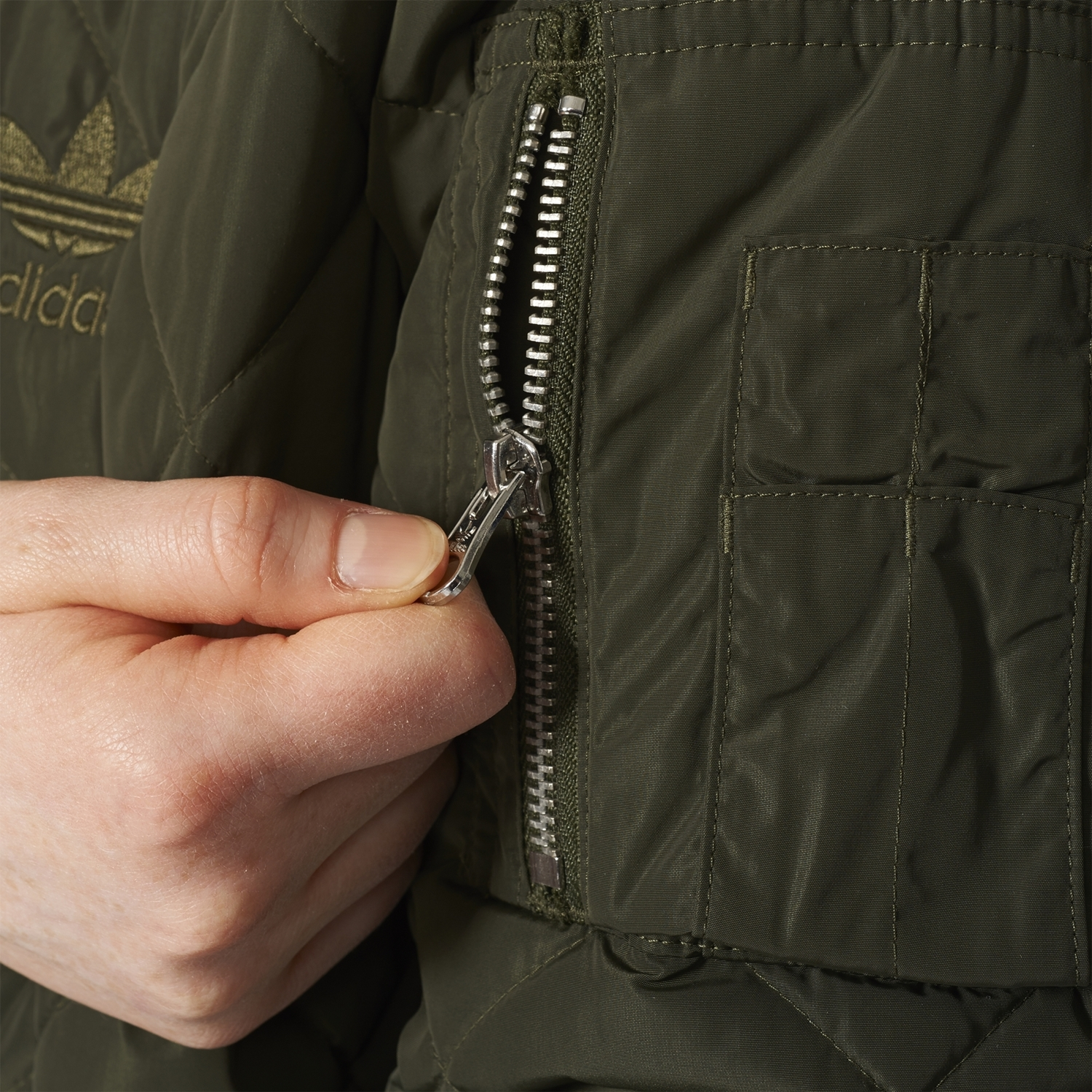 W Long Adidas Jacket Bomber Originals Quilted T81f8q