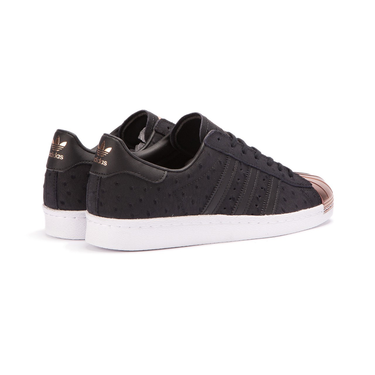 Adidas Superstar 80 Originales Zapatos De Punta De Metal Núcleo Negro INobCIQ