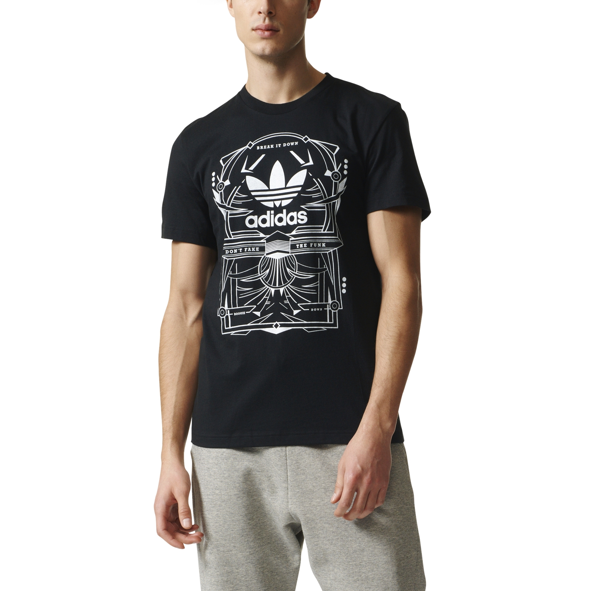 Boogie Rectangle Down black Tee 3 Originals Adidas qISwUgq