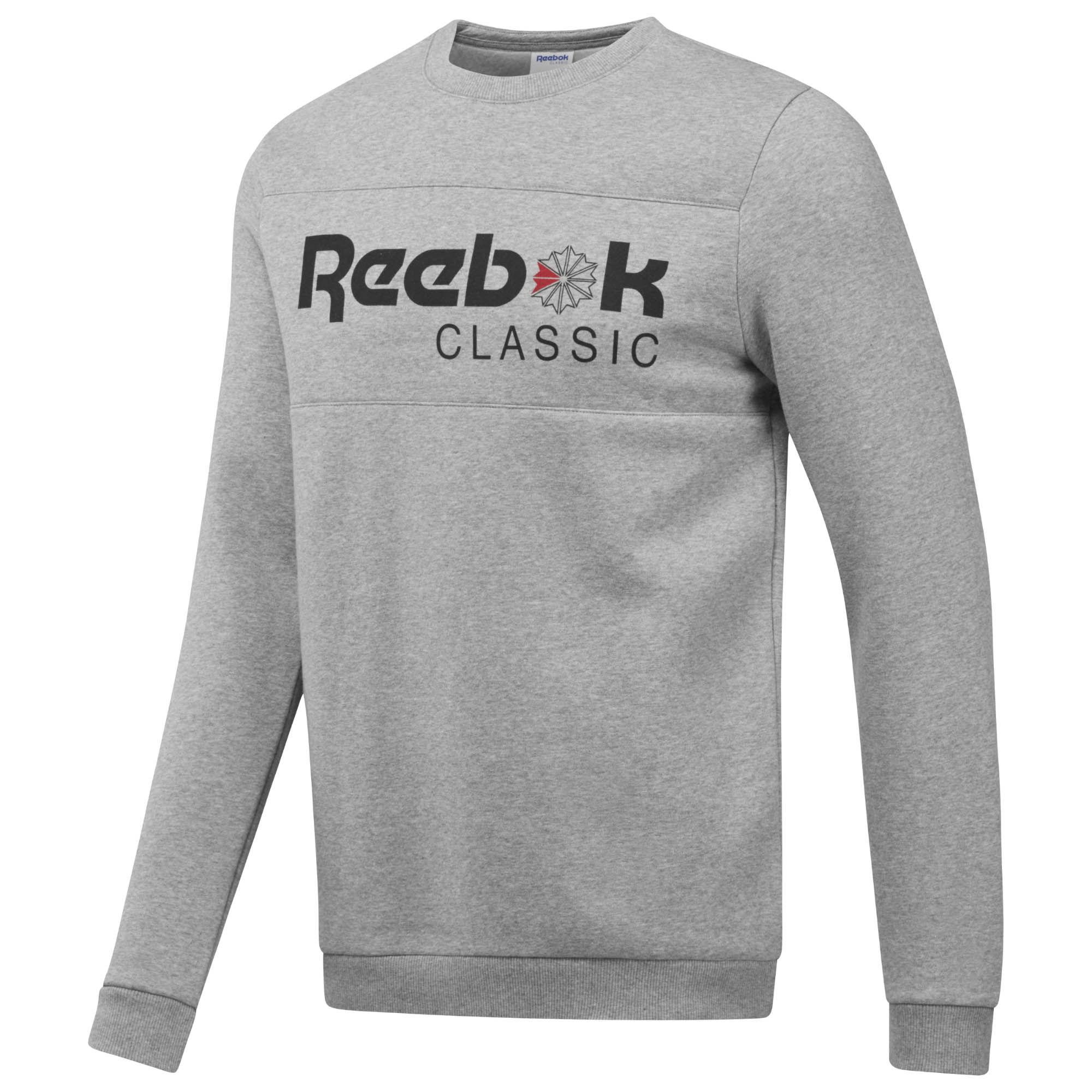 Reebok Reebok Classic Iconic Iconic Reebok Crewneck Classic Fleece Fleece Classic Crewneck dCxQoWrBEe